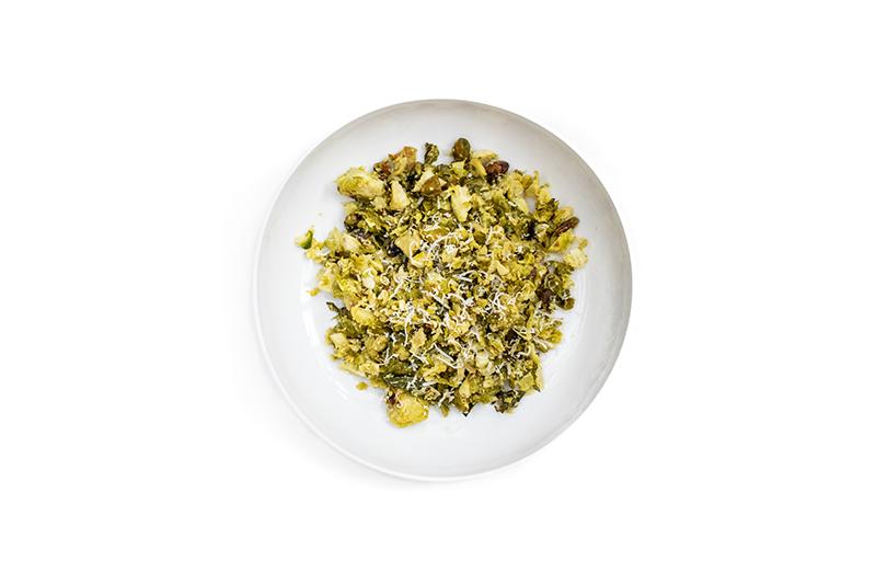 lemon pistachio brussel sprouts